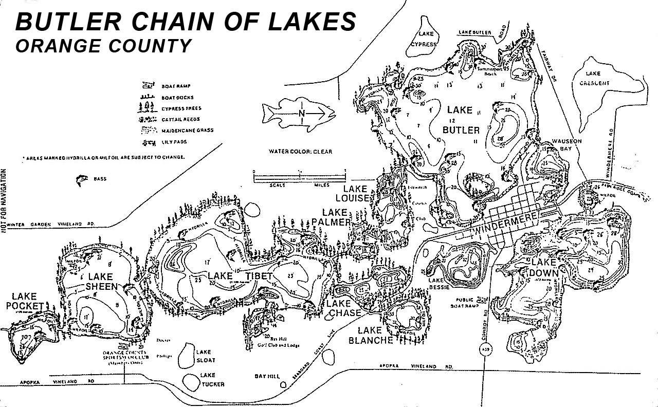 Butler Chain of Lakes Map - LG