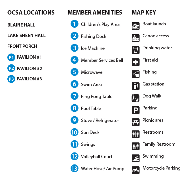 OCSA Grounds Map Key