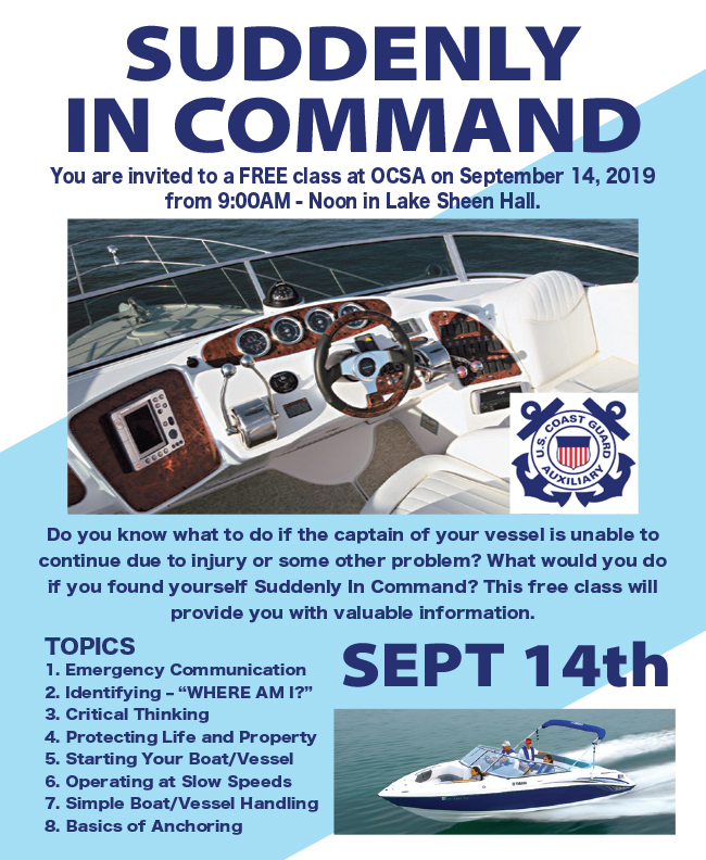 Suddenly in Command - Boating Safety Class at the Orange County Sportsmen's Association